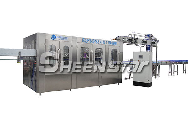 7000bph 4 IN 1 Medium Temperature Juice Filling Machine